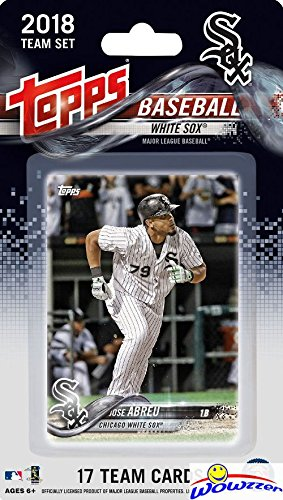 fan products of Chicago White Sox 2018 Topps Baseball EXCLUSIVE Special Limited Edition 17 Card Complete Team Set with Jose Abreu, Yoan Moncada & Many More Stars & Rookies! Shipped in Bubble Mailer! WOWZZER!