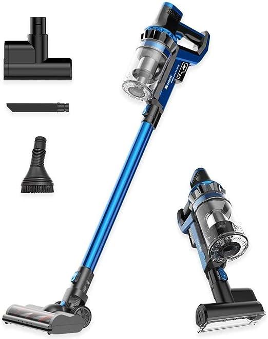 Proscenic P10 Limpiador inalámbrico, Potente Pantalla táctil LED, 4 Modos de succión Ajustables, aspiradora de Mano 4 en 1, Base de Carga, Larga duración, Mini Herramienta motorizada, Azul: Amazon.es: Hogar