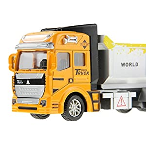 Holiberty 1:48 Scale Childrens Boys Toddlers Car Toy Gift Pullback Alloy Diecast Car Model Dumper Truck Lorry Building Construction Vehicle Boxed for Kids 3 Years and up