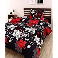 Swiss India Polycotton 3D Printed 180TC Single Bedsheet with Pillow Cover (Multicolour)