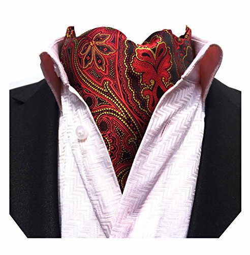 oral Paisley Jacquard Woven Silk Cravat Necktie Scarf Ascot ()