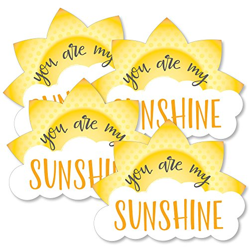 You are My Sunshine - Sun and Cloud Decorations DIY Baby Shower or Birthday Party Essentials - Set of 20 ()