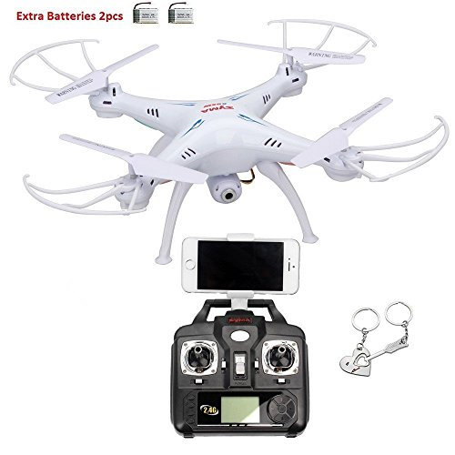 Syma X5SW 4 Channel Remote Controlled Quadcopter with HD Camera for Real...