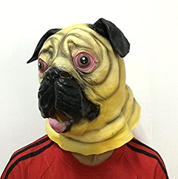 halloween latex shapi dogs dressup cosplay masquerade face mask heagear