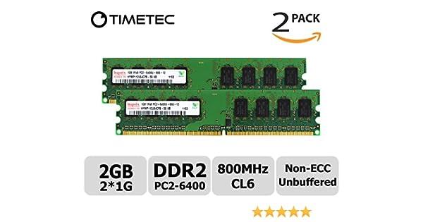 4GB Kit 2X 2GB DDR2 PC2-6400 800Mhz Non-ECC Dell Studio Slim// Desktop Memory RAM