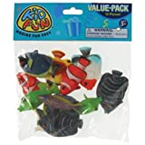 US Toy 2 Dozen Assorted Tropical Fish Toy Figures - (24 total fish)