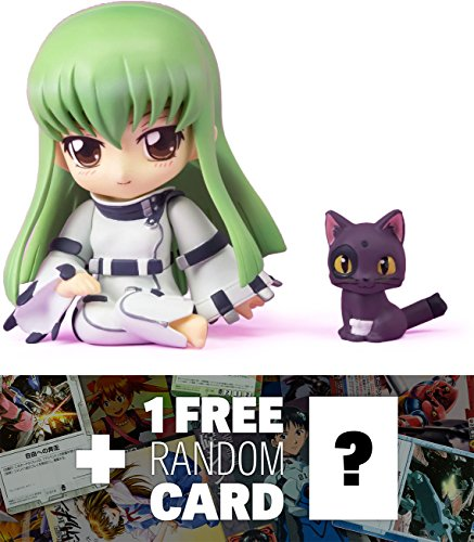 Anime Super Robot - Code Geass C.C x Chibi Arts Super Deformed Mini-Figure Series + 1 FREE Super Robot Anime Themed Trading Card Bundle
