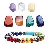 Top Plaza 7 Chakra Reiki Healing Crystals Yoga Balance Irregular Shape Polished Tumbled