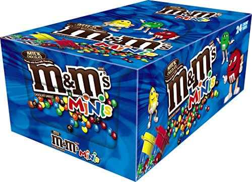 M&M'S Milk Chocolate MINIS Size Candy 1.77-Ounce Tube 24-Count ()