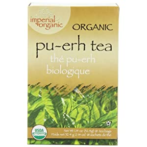 Imperial Organic Tea, Pu-Erh, 18 Tea Bags (Pack of 4)