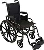 ProBasics Ultra Lightweight Wheelchair for Adults - Height Adjustable Seat - Flip Back Heaight Adjustable Desk Arms - Swing-Away Foot Rest, 20' x 16' Seat