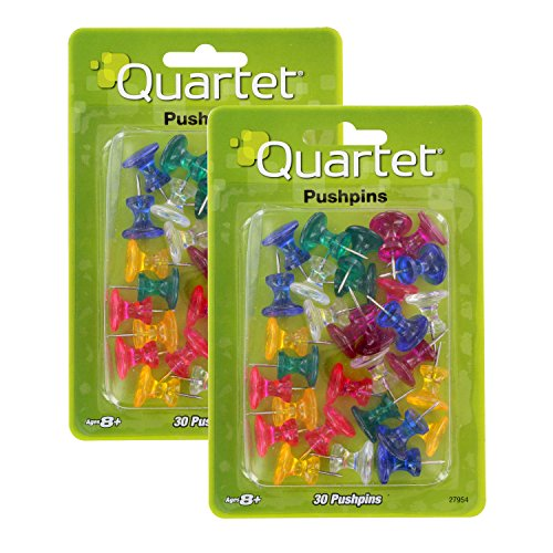Push Pins Swingline (Quartet Push Pins, 1-Inch, Assorted Colors, 60 Pack (27954))