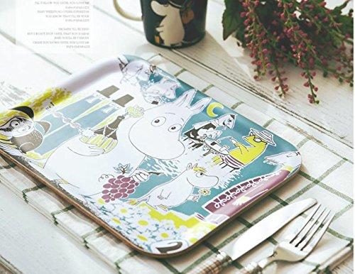 Grape Serving Tray (Moomin Wooden Serving Tray [ Grape / Breakfast / Silence of lambs ] 3 pcs 1 set (Grape 1pcs))