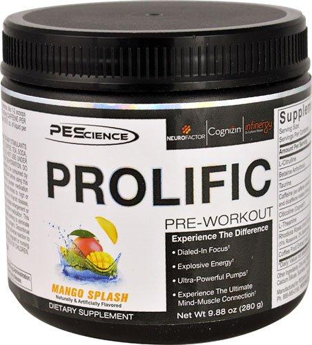 PEScience Prolific Pre-Workout Mango Splash -- 20 Servings - 2PC by PEScience