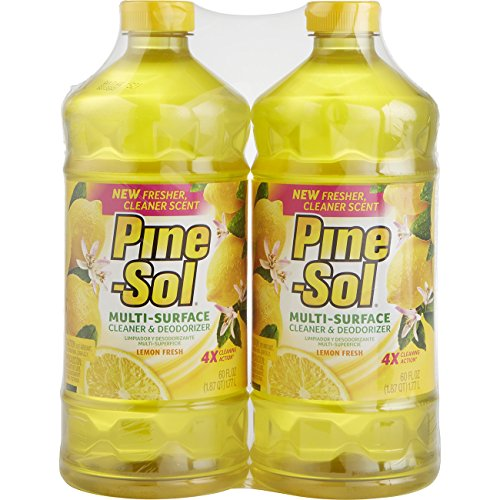 Bottle Lemon Scent (Pine-Sol Multi-Surface Cleaner, Lemon Fresh Scent, Two Count Bottle, 120 fl oz Total)