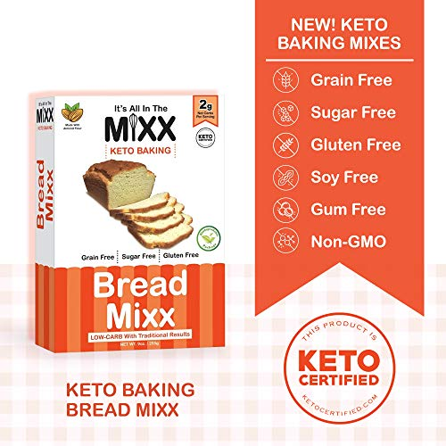 Bread Mixx, Low Carb Keto Bread Mix with Almond Flour, Keto Friendly Mix for Low-Carb Bread, 255 g - It's All In The Mixx 4