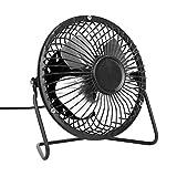 Inkach Mini Desk Fan - USB Powered Cooling Fan - Personal Quiet Office USB Desktop Fan (Black)