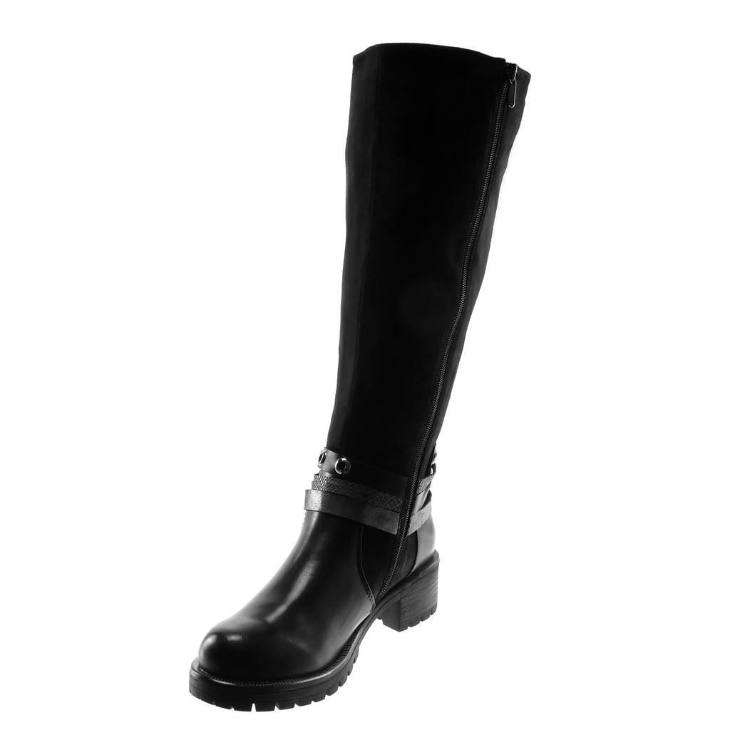 Angkorly - Damen Schuhe Stiefel - - - Reitstiefel Kavalier - bi-Material - Biker - Multi-Zaum - Perforiert - Schlangenhaut Blockabsatz high Heel 4.5 cm ca4a51