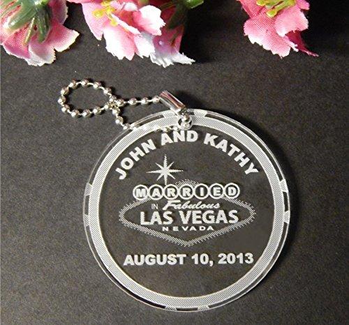 Keychains Las Vegas Wedding Favors - 1