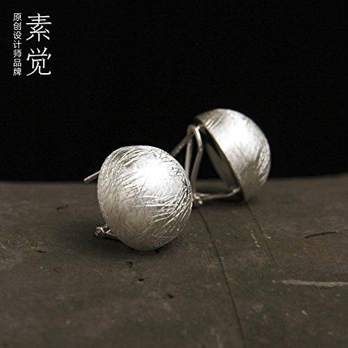 BAGEHAN 925 Silber Ohrringe Ohrringe Tremella Schnalle Lady Zeichnung Schmuck Geschenk Kabel Kugelbolzen Wire ball stud