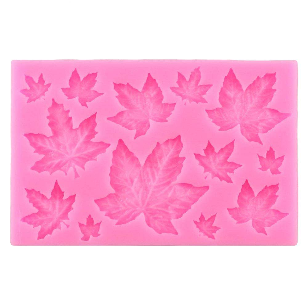 Gessppo Cake Mould 3D Maple Leaf Silicone Fondant Mold Cake Decorating ugarcraft Mould for Bread Chocolate Cookie Jelly Biscuit Candy Mould Kitchen Tool