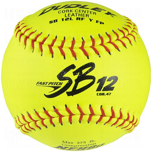 Dudley Sb 12L Nfhs Fast Pitch Leather Softballs 12 Ball Pack by Dudley