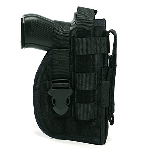 DYJ Adjustable Right Handed Tactical Molle Modular Belt Holster For Pistol(1000D) (Black)