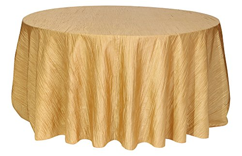 - Your Chair Covers Round Crinkle Taffeta Tablecloths, 120