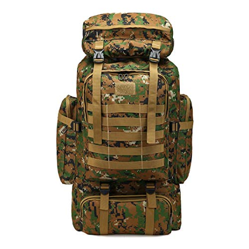 60l outdoor military tactical camping hiking trekking backpack internal...
