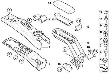 MINI Genuine Center Console Clip R50 R52 R53 R55 R56 R57 R58 R59 R60 07131481910