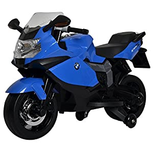 Licensed BMW Motorcycle 12V Kids Battery Powered Ride On Car Toy Blue
