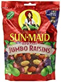 Sun Maid Mixed Jumbo Raisins, 12-Ounce Pouches (Pack of 5)