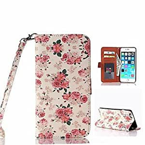 SHOUJIKE Beautiful Flower Pattern PU Full Body Case With Card Slot and Stand for iPhone 6 Plus
