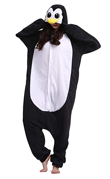 c62e4e4ae9 Kigurumi Unisex Adulto Animal Pijamas Carnaval Halloween Cosplay Disfraz  Pingüino Negro  Amazon.es  Ropa y accesorios