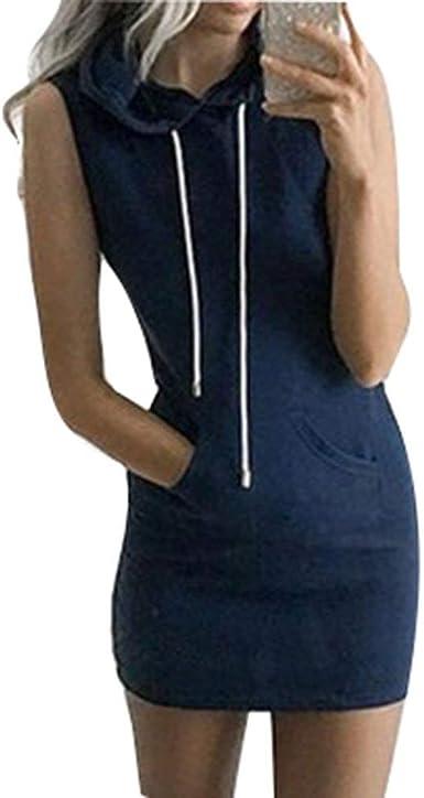 Mujer Vestidos con Capucha Elegantes Moda Casual Cómodo ...