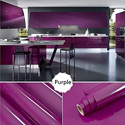 Still new Home Vinyl Shiny Contact Paper Self Adhesive Wallpaper Waterproof Contact Paper for Cabinets Furniture Pure Color