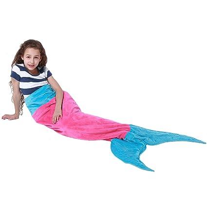 Extpro Cola de sirena manta suave forro polar niños saco de dormir diseño de la Sirenita