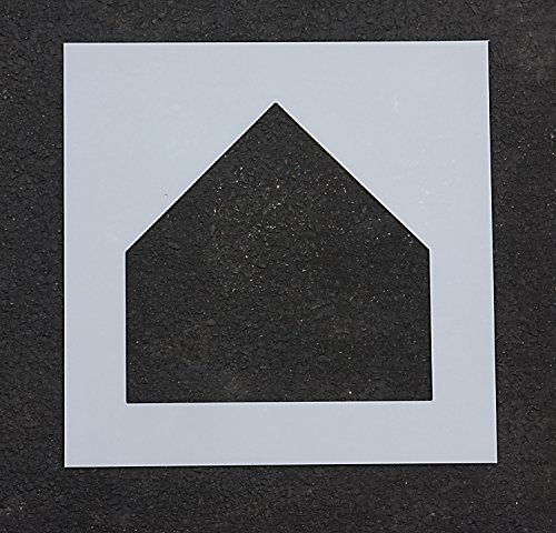 Football Stencil Marking - Athletic Marking - Baseball Stencil - 17 in - Home Plate - 1/8