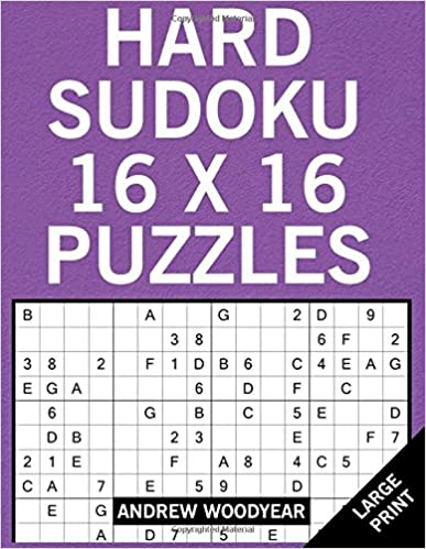 picture about Sudoku 16x16 Printable identified as Challenging Sudoku 16 X 16 Puzzles: Sudoku Weighty Print Puzzle Guides