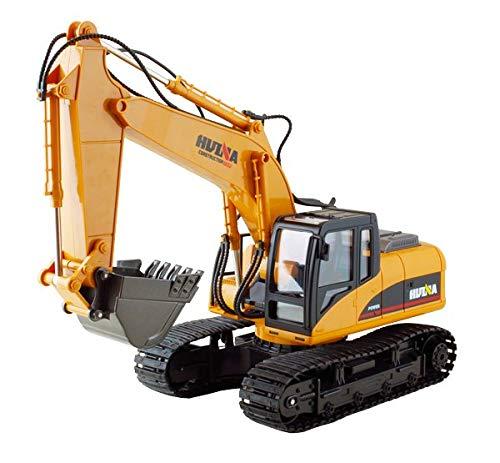 HuiNa 1550 RC Excavator, Yellow