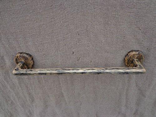 Wooden Towel Rack, Rustic Towel Holder, Natural Towel Hanger, Wall Towel Holder, Live Edge Holder, Log Cabin Towel Rack (Cabin Towel Bar)