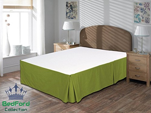 BedFord Collection Egyptian Cotton 750TC 1 Piece Bed Skirt Full-XL Size 18'' Inch Drop Length Moss Solid - Moss Full 18' Drop