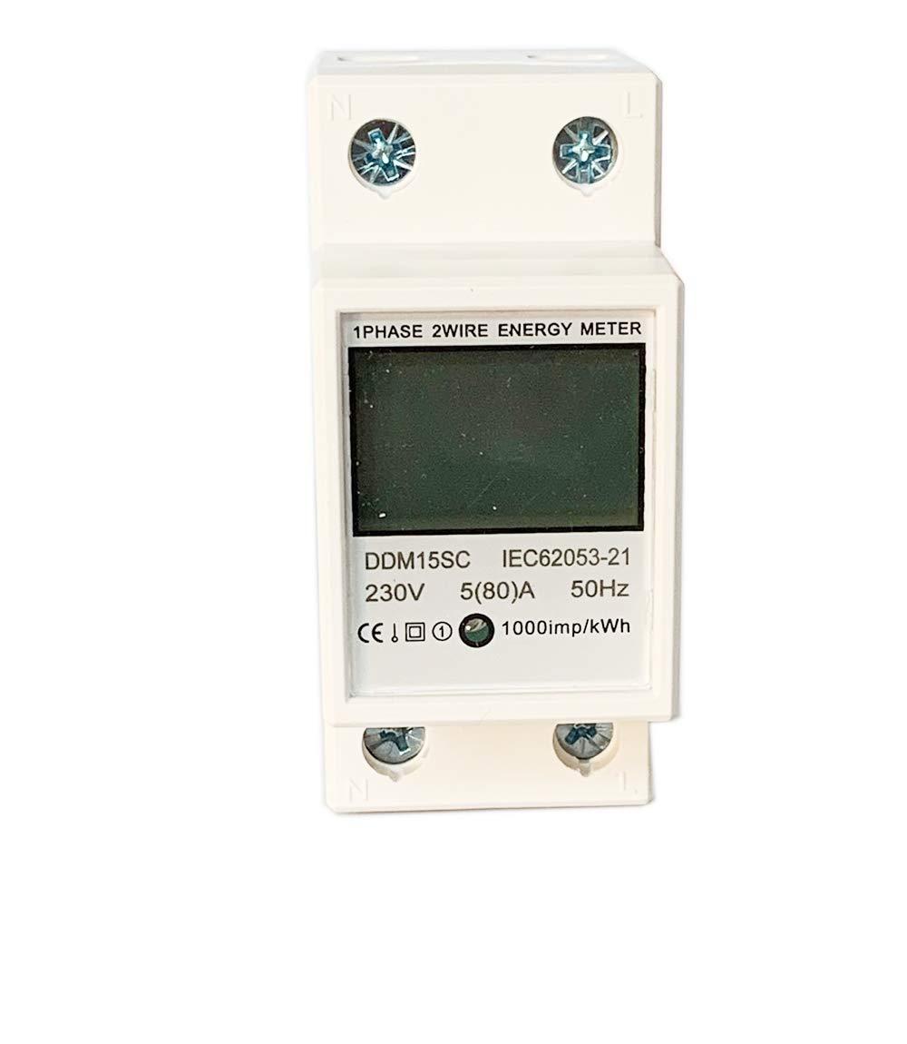 1 fase A 80 JVJ 5 230 V con vat/ímetro Contador de corriente alterna con pantalla LCD