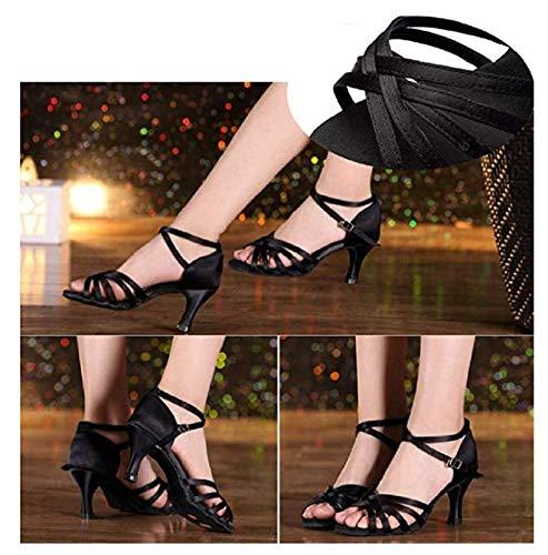 Eu Baile Fabricante Color Mujer Del 033 Zapatos América Salón Wy Negro Latina 39 tamaño De 40 7xqcU5wZg