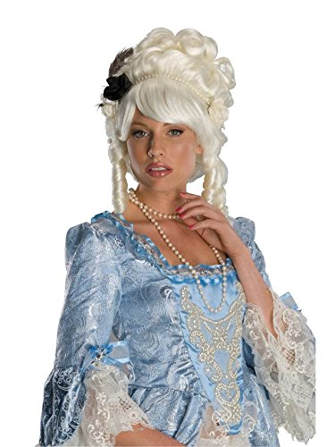 Marie Antoinette Wig with Black Rose Costume Accessory
