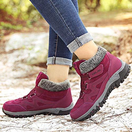 Chaussures Randonne Violet Lazzboy Sport Doublure Jogging Femmes Une Dans Chaude Baskets xwqI54