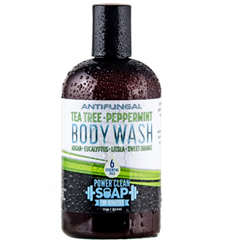 Peppermint and Tea Tree Essential Oil Antifungal Body and Foot Wash |100% Natural | Soothes Jock Itch, Athletes Foot, and Itchy Skin 12oz