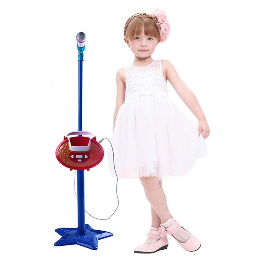 GHDE& Portable Microphone Musical Toys Kids Karaoke Machine with MP3 Sing Stand Best Gift for Your Kids on Birthday,A by GHDE& (Image #1)