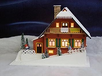 Amazon De Lichterhaus Haus Am Hang Elektrisch Beleuchtet Lxbxh Ca
