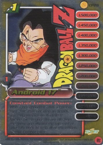 Dragonball Z Trunks Saga Exclusive Limited Edition Capsule Corp. Power Pack Foil Personality Card- Android 17 Level 1 #CP28